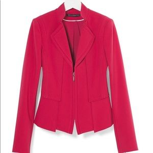 White House Black Market Red Blazer Jacket Size 6